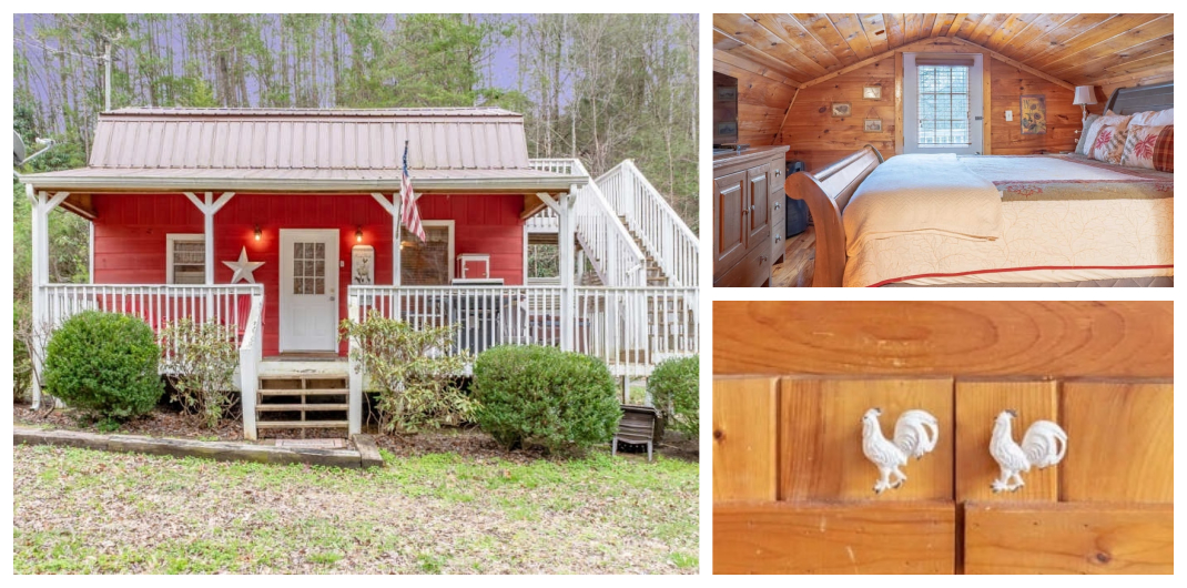 red home for sale in sevierville tn