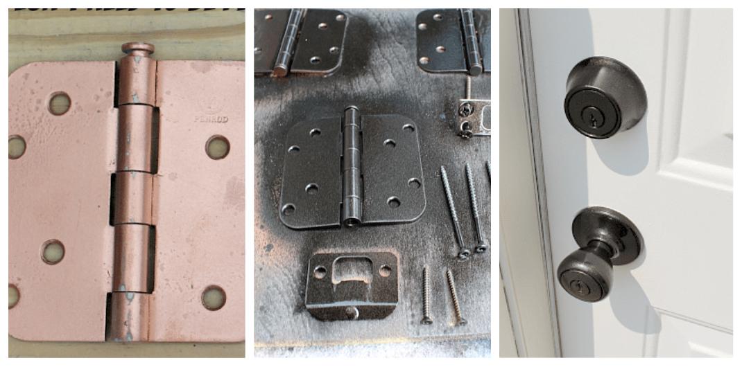 repaint front door hardware