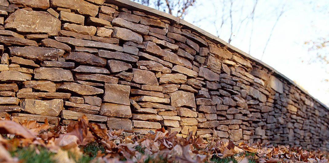 stone veneer short wall