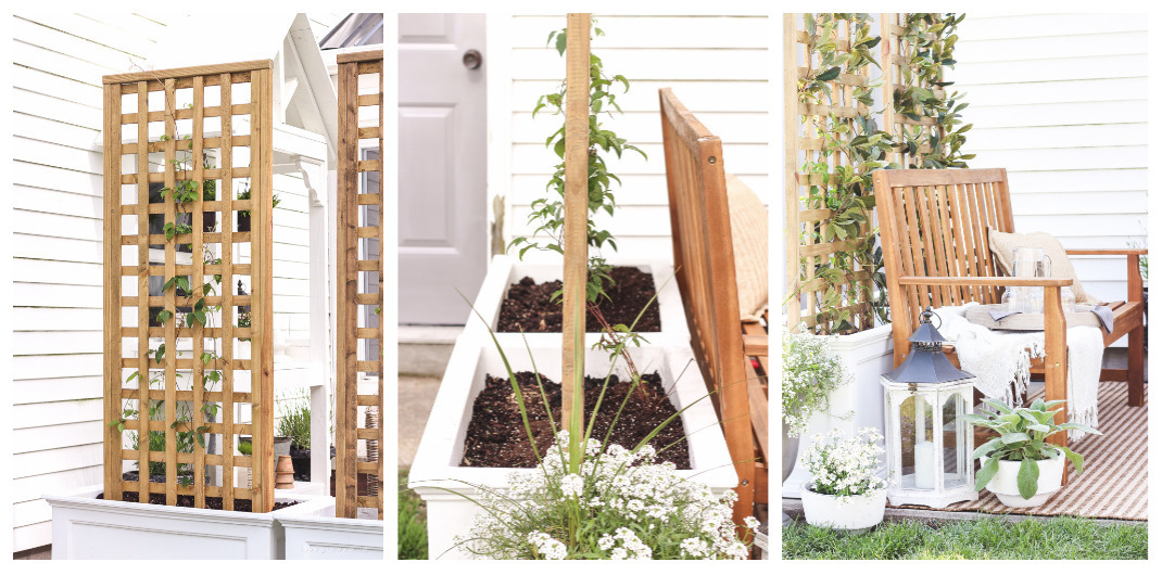 how to make a trellis planter