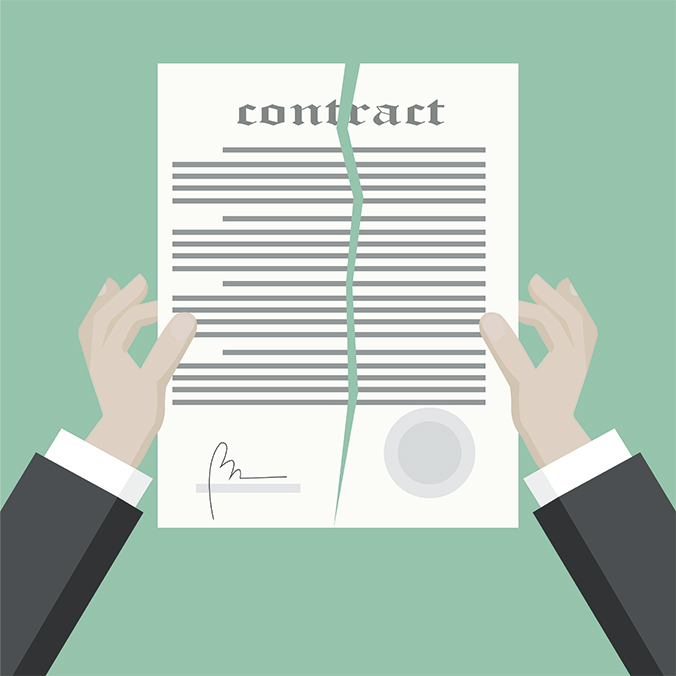 backing out of home contract