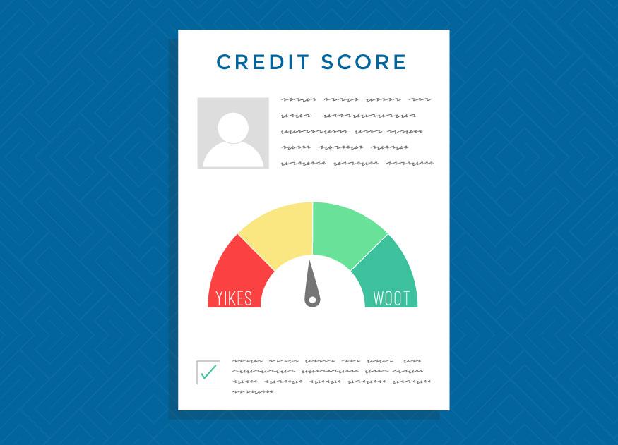 un historial de crédito negativo