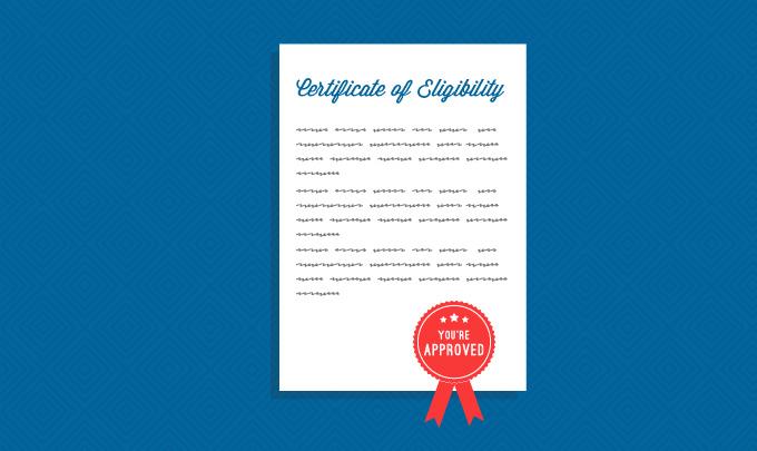 Certificado de elegibilidad