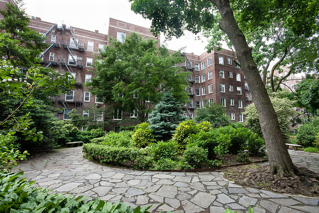 A Typical Garden Apartment Complex In Jackson Heights