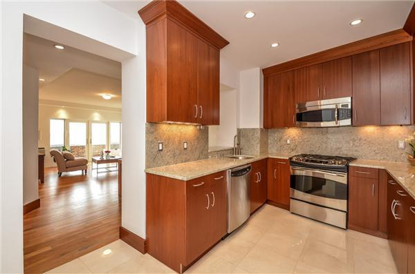 The kitchen at 6833 Shore Road #5D.