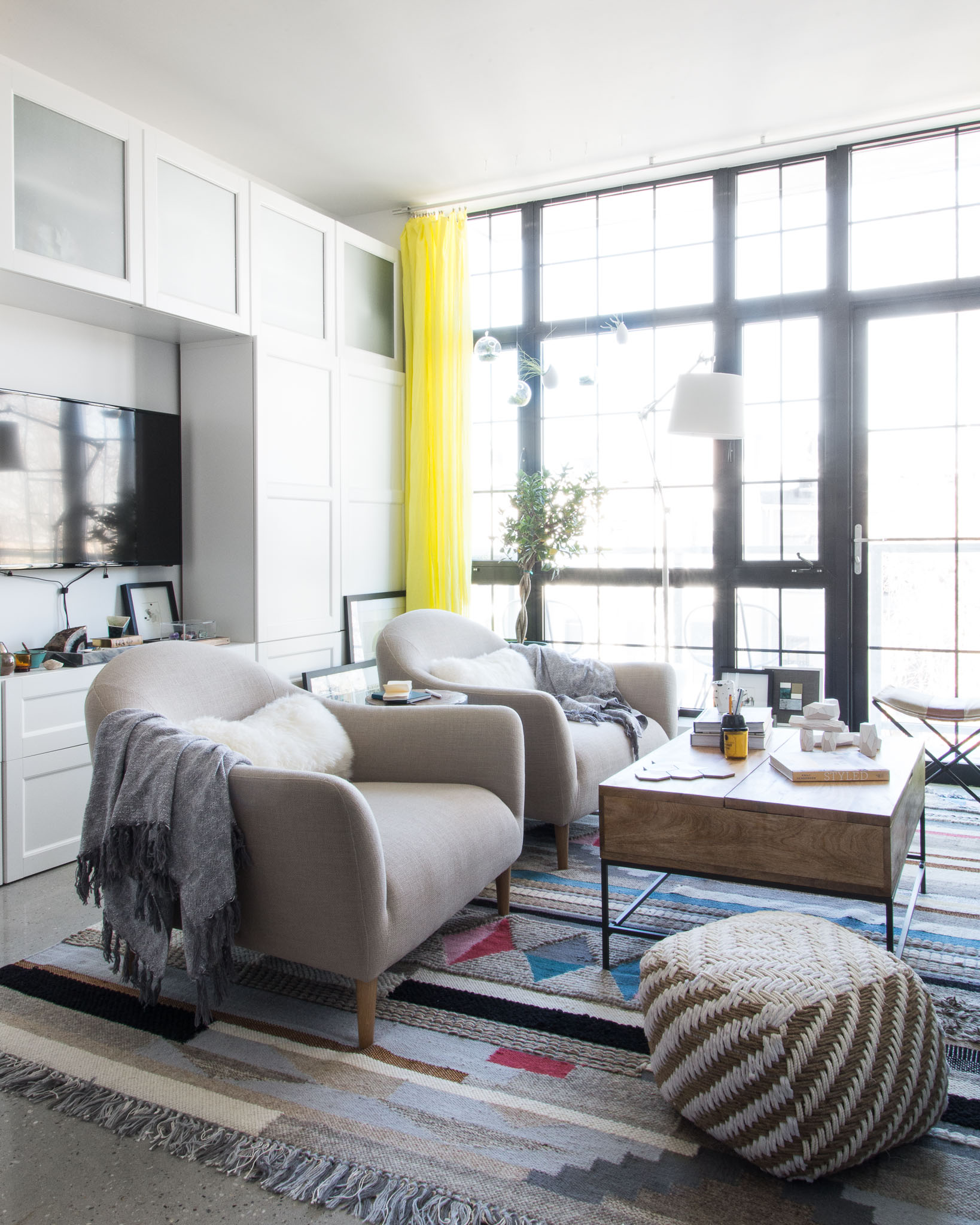 Before & After: Sterile New Construction Apartment Becomes One-of-a ...