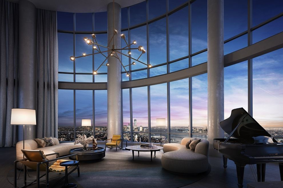 Supermassive 15 hudson yards penthouse debuts for 32m for New york penthouse rent