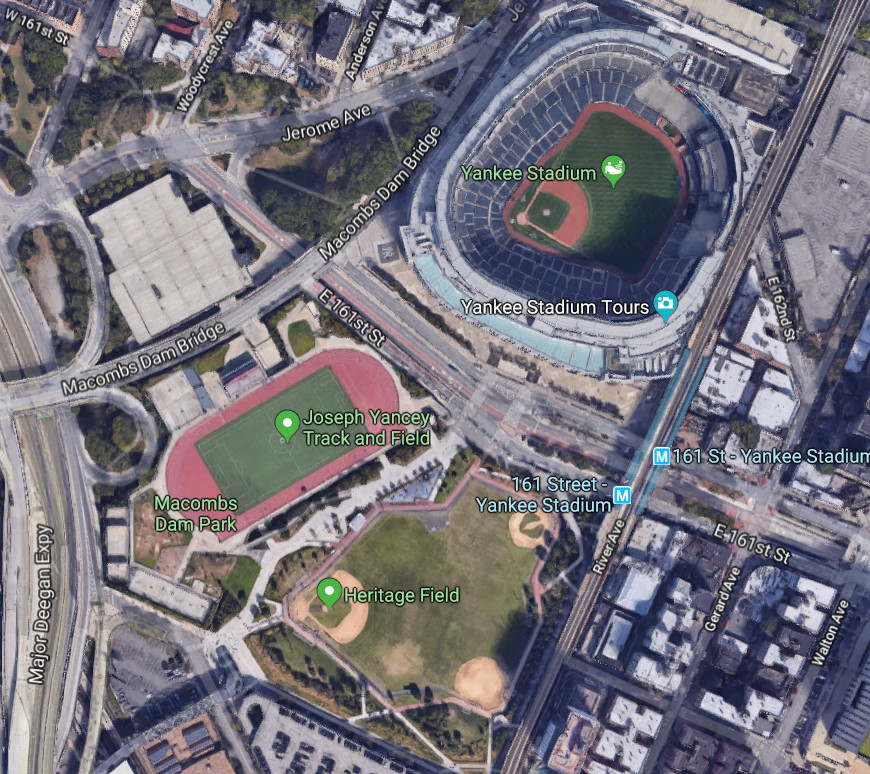 Old Yankee Stadium and Mets' Old Stadium: NYC Baseball History ... on nrg stadium street map, central park street map, minute maid park street map, manhattan street map, bank of america stadium street map, seattle street map, new york university location map, busch stadium street map, harlem new york city map, west hartford street map, union square street map, comerica park street map, angel stadium street map, lucas oil stadium street map, fenway park street map, alamodome street map, empire state building street map, new york street map, wrigley field street map, philadelphia street map,