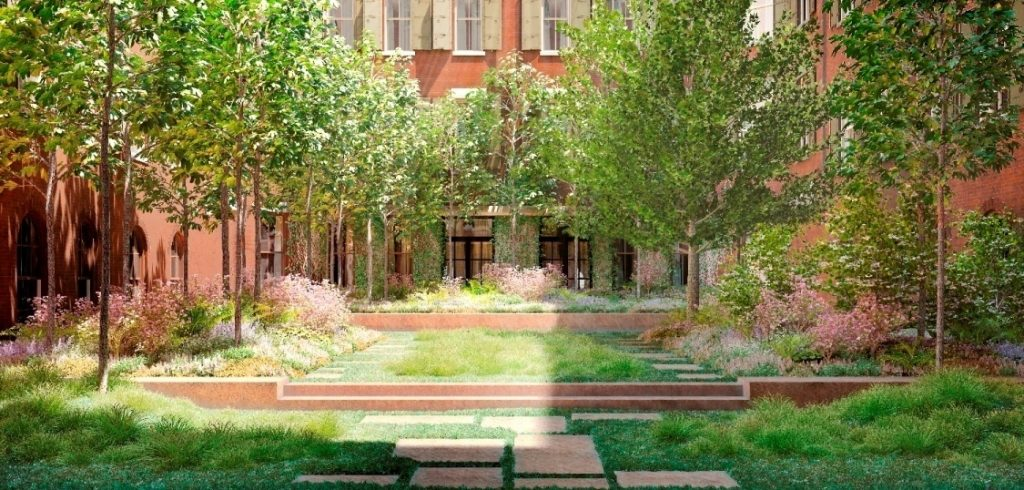 Photo of Mike myers courtyard tribeca