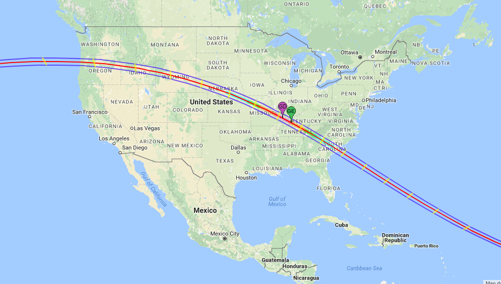 Solar Eclipse Will You See It In NYC See The Map - New york city new york on us map