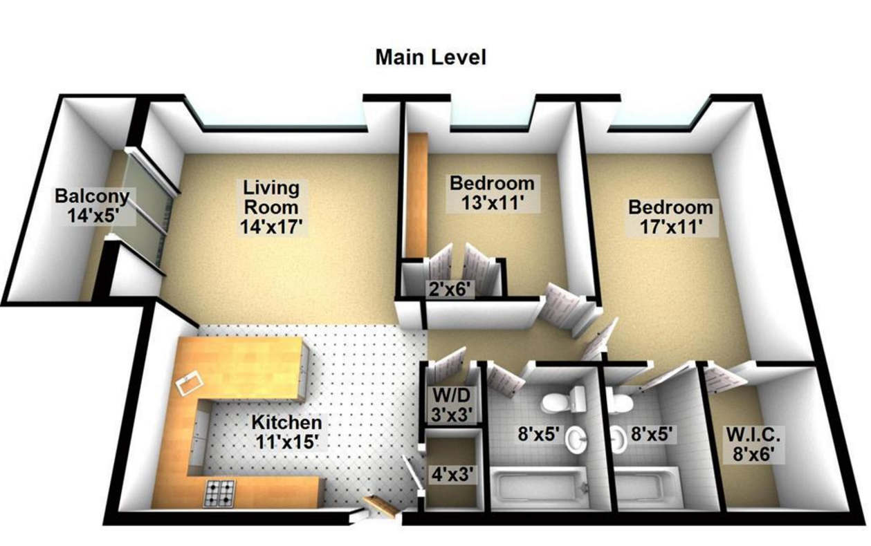 Washer Dryer Floor Plan