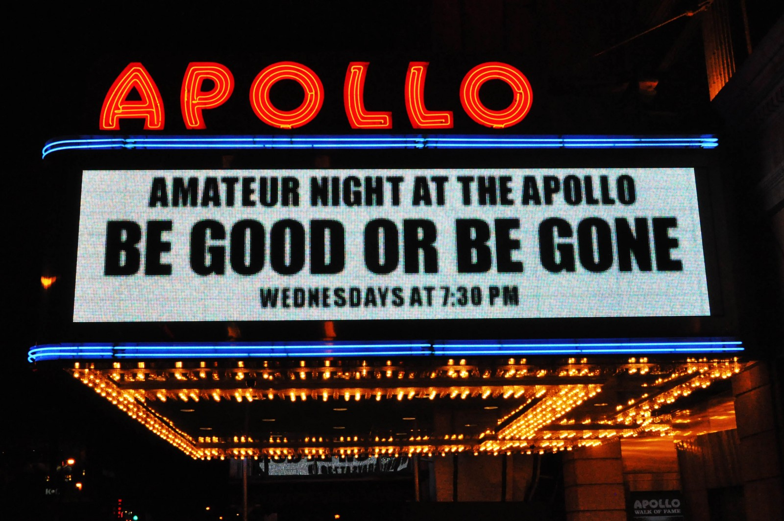 Amateur night at the appolo