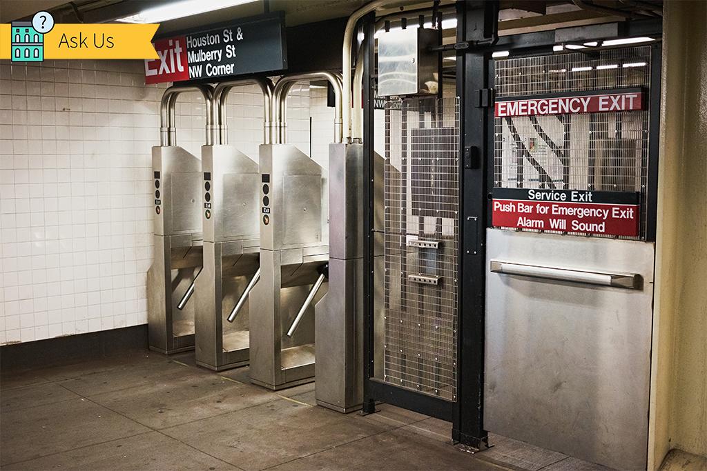 Image Of Subway Emergency Gate New York City