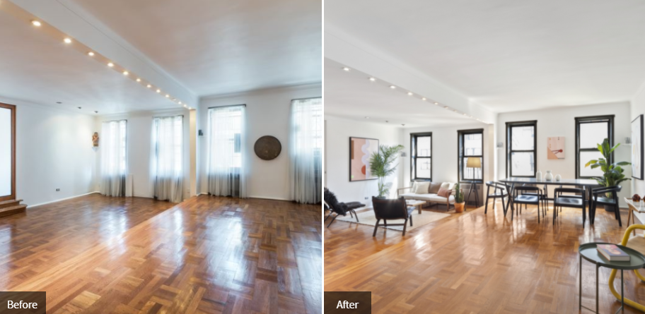 The Dramatic Difference In An Apartment After It Was Staged Or Renovated Seeing Those Transformations Side By Creates Aha Moment