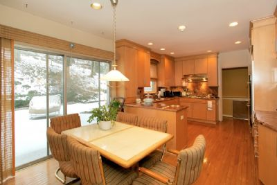 The eat-in kitchen at 5251 Fieldston Road.