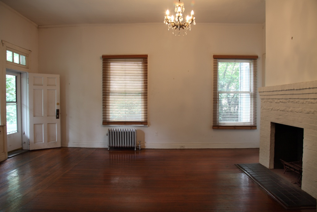 charming empty living room fireplace | Savvy Michelle Williams Makes Move to Percolating Ditmas ...