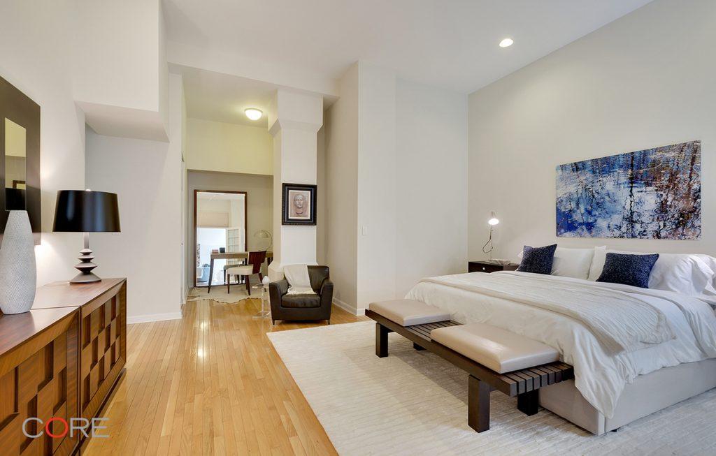 Photo of Fran Lebowitz's bedroom in Chelsea