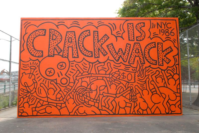 Keith harings sites nyc 7 must see murals statues and for Crack is wack keith haring mural