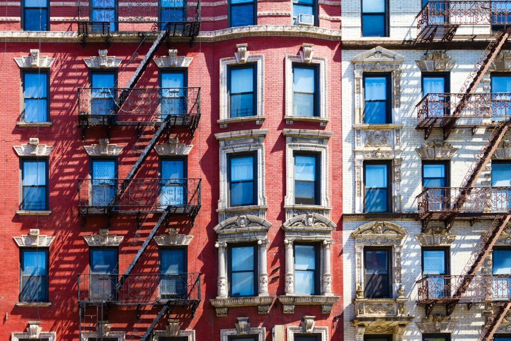 Photo Of Apartment Buildings In New York City With Lintels