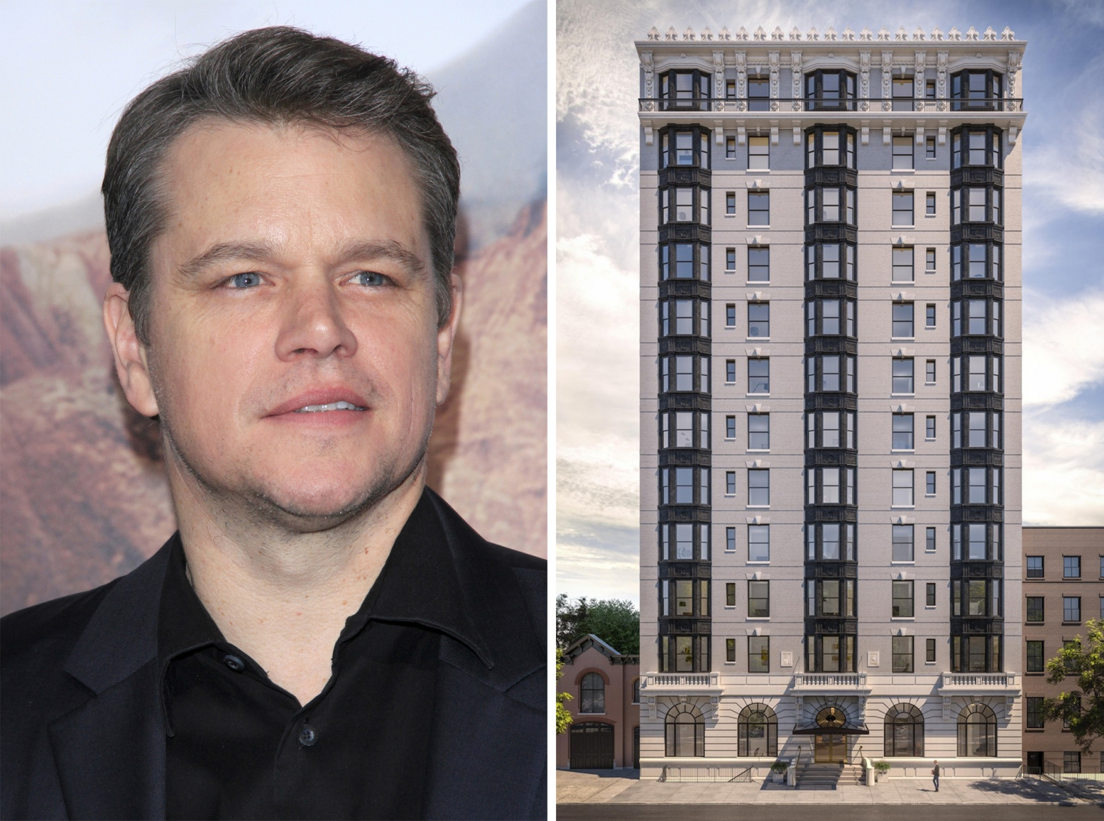 Matt Damon and the Standish in Brooklyn Heights