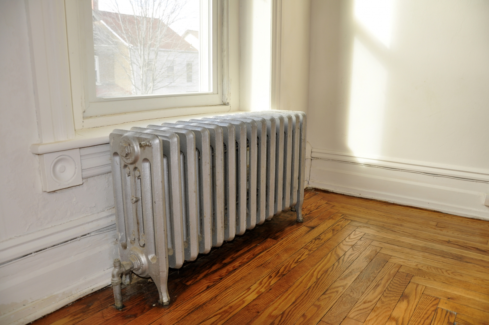 Image Of A Steam Radiator Overheating City Apartment