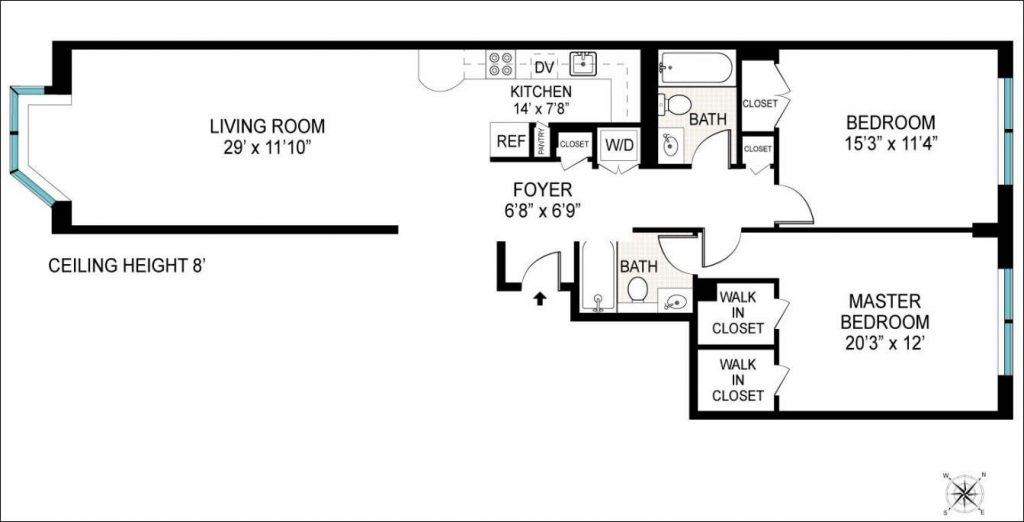 Image of Christian Slater's Hell's Kitchen floor plan