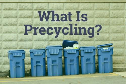 recycling bins on city street