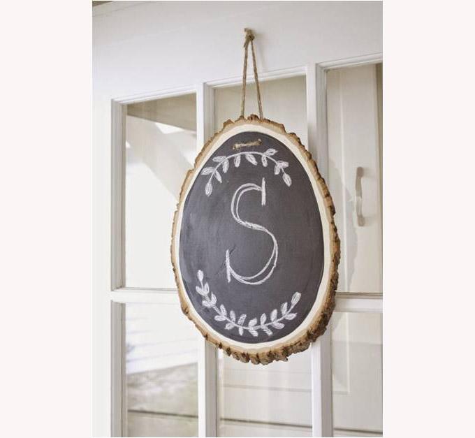 monogram door sign