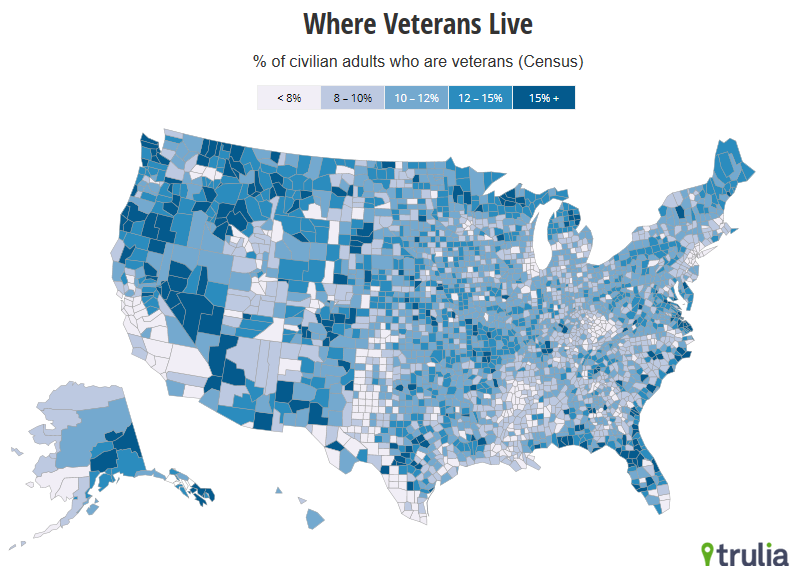 veterans county map
