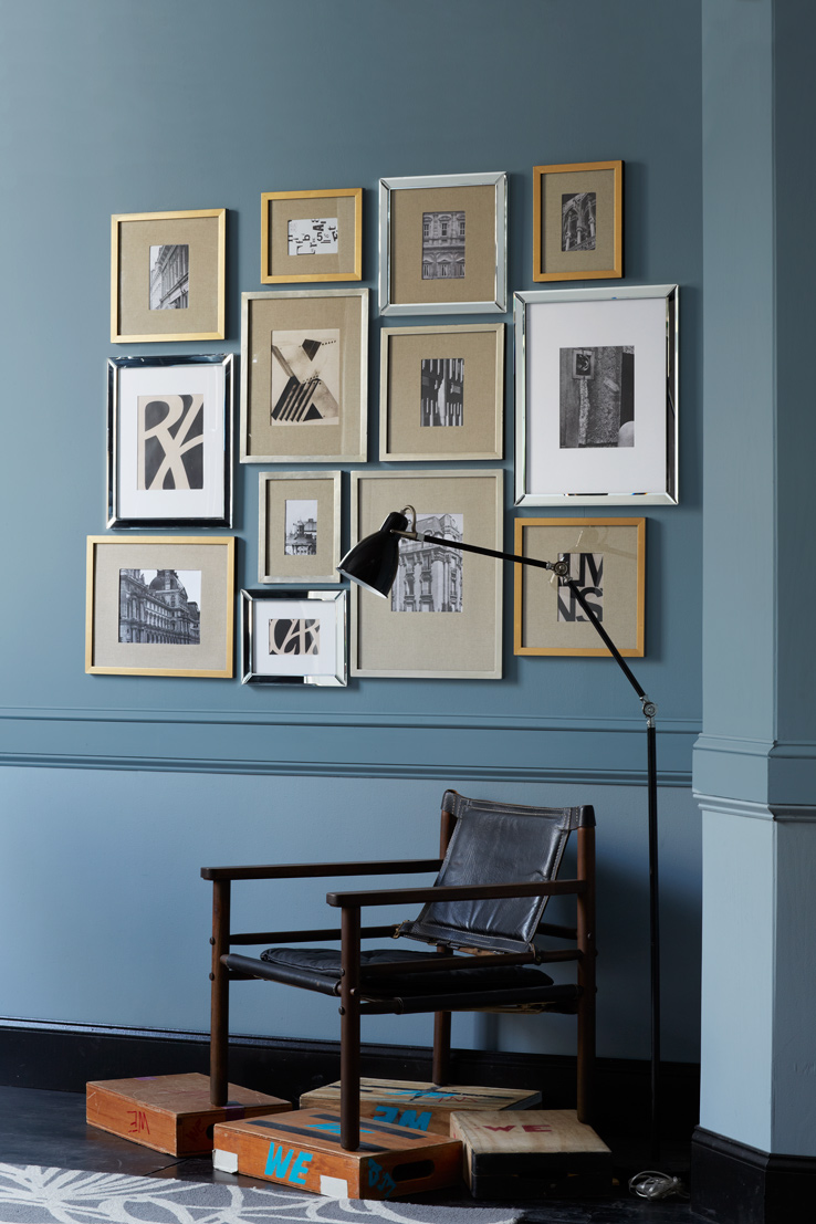 4 Mirrored Frames Gallery Wall