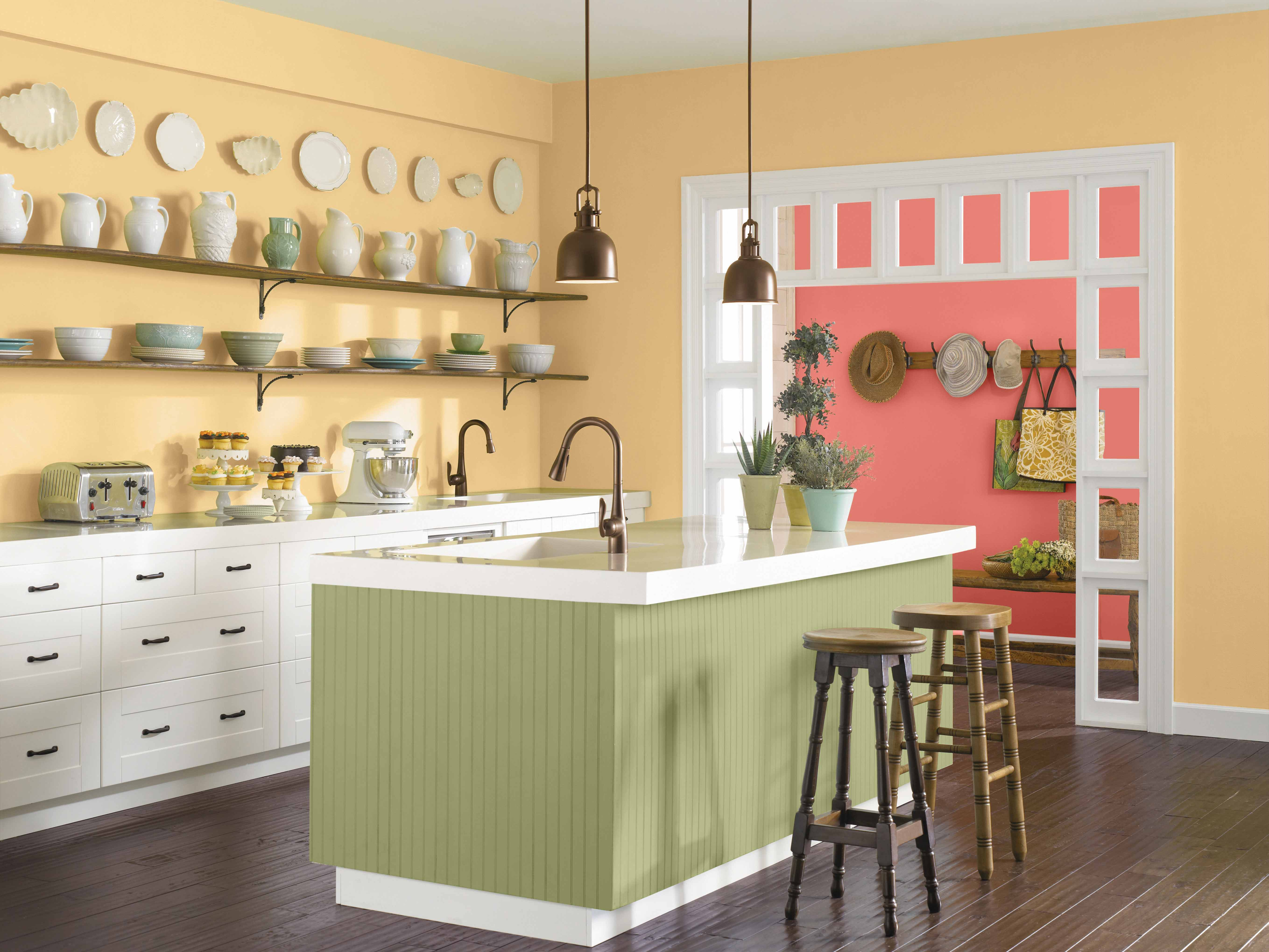 Awesome CR_COTY Kitchen_Hubbard Sqaush SW 0044 Coral Reef 6606 Awesome Design