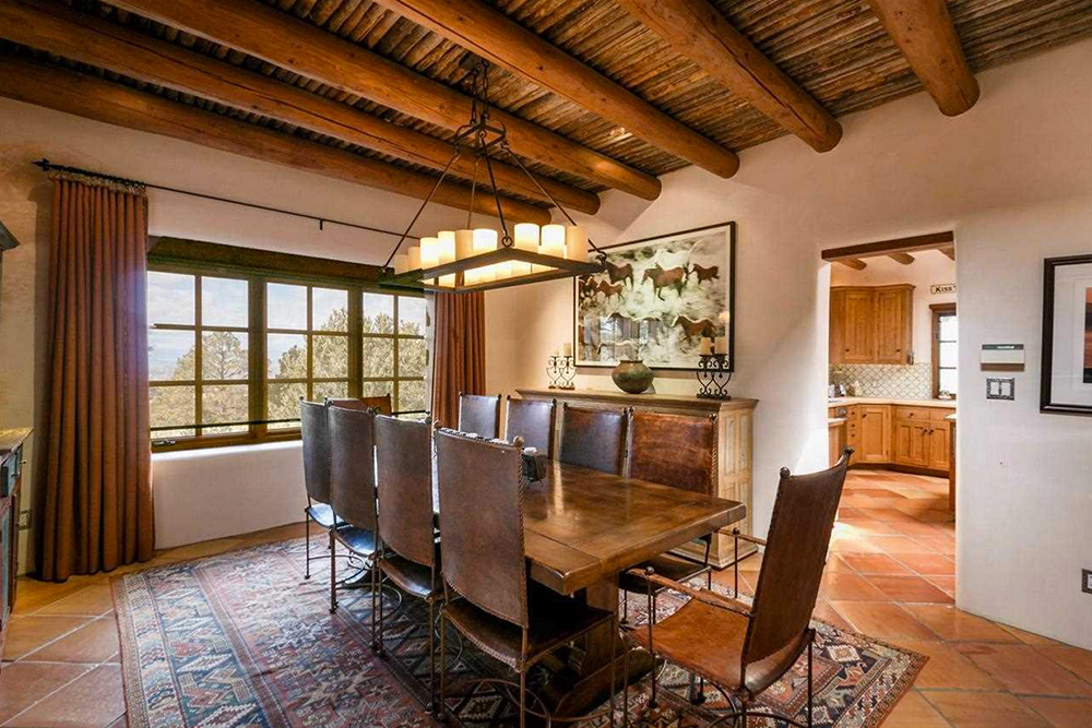 Found on Trulia: An Outdoorsy Retreat in New Mexico - Dining Room