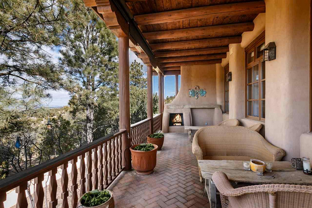 Found on Trulia: An Outdoorsy Retreat in New Mexico - Fireside Porch
