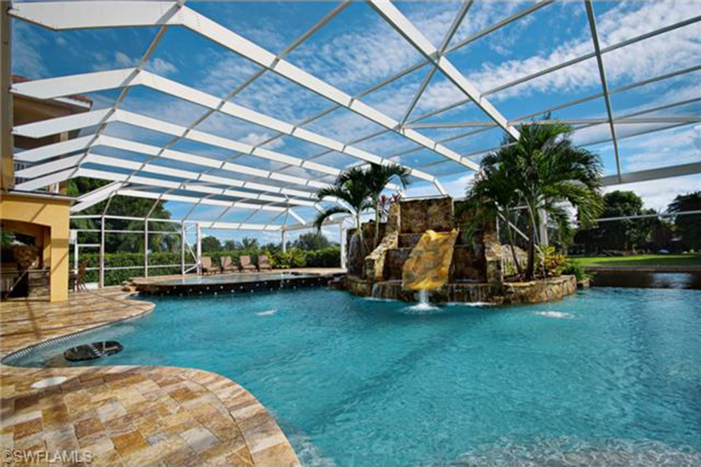 home indoor pool with slide. Modren Indoor June2015Trulia9 Homes For Sale With Epic Water SlidesCapeCoral For Home Indoor Pool Slide R
