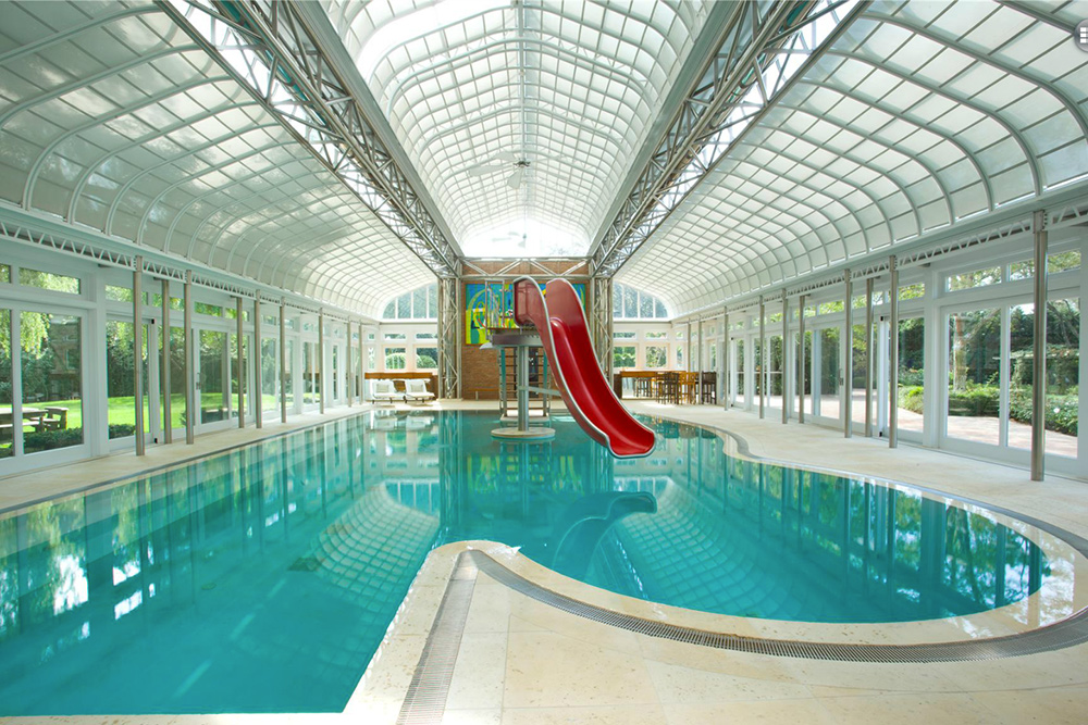 Mansion with indoor pool with slides  9 Homes for Sale With Epic Water Slides - Trulia's Blog - Real ...