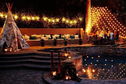 Nicole Richie's Backyard