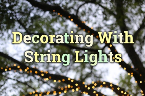 decorate with string lights