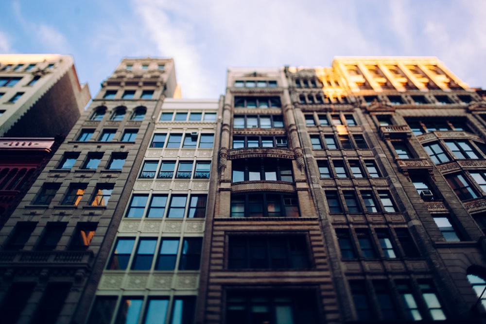 high rise condo building in city