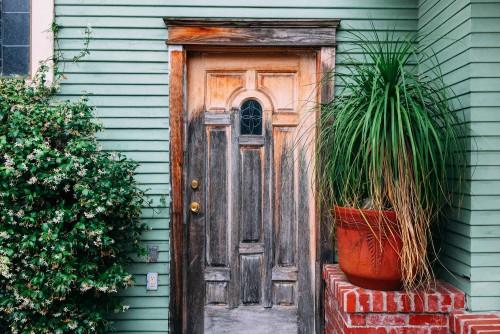 front door of a new home