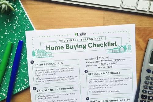 Trulia Home Buying Checklist