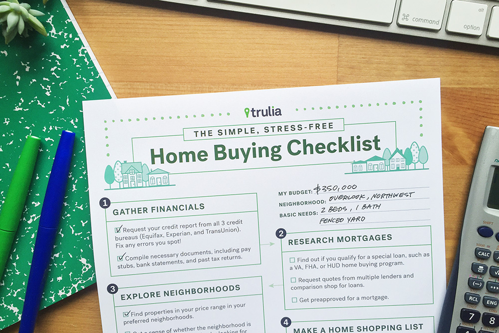 Trulia Home Buying Checklist