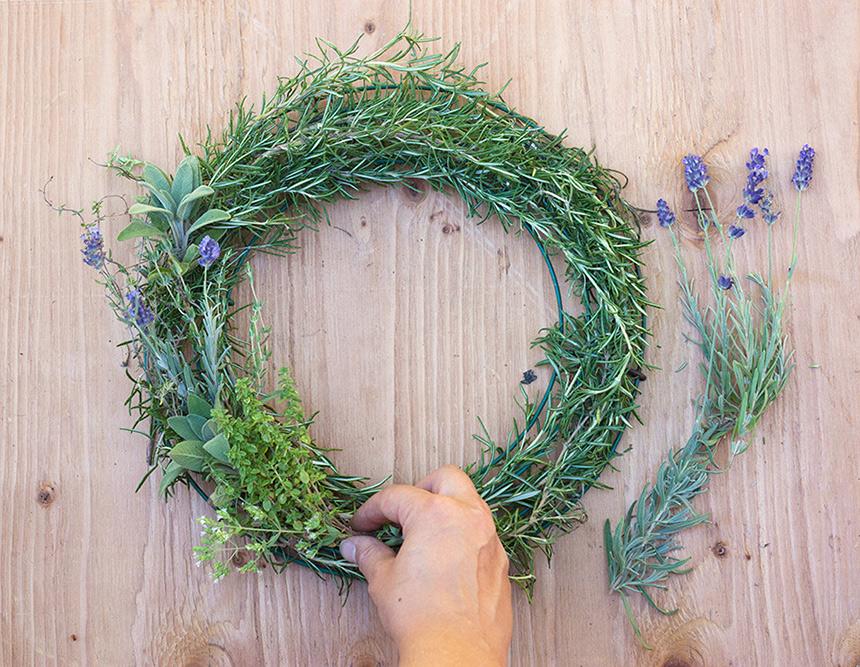 herbal wreath homemade air freshener