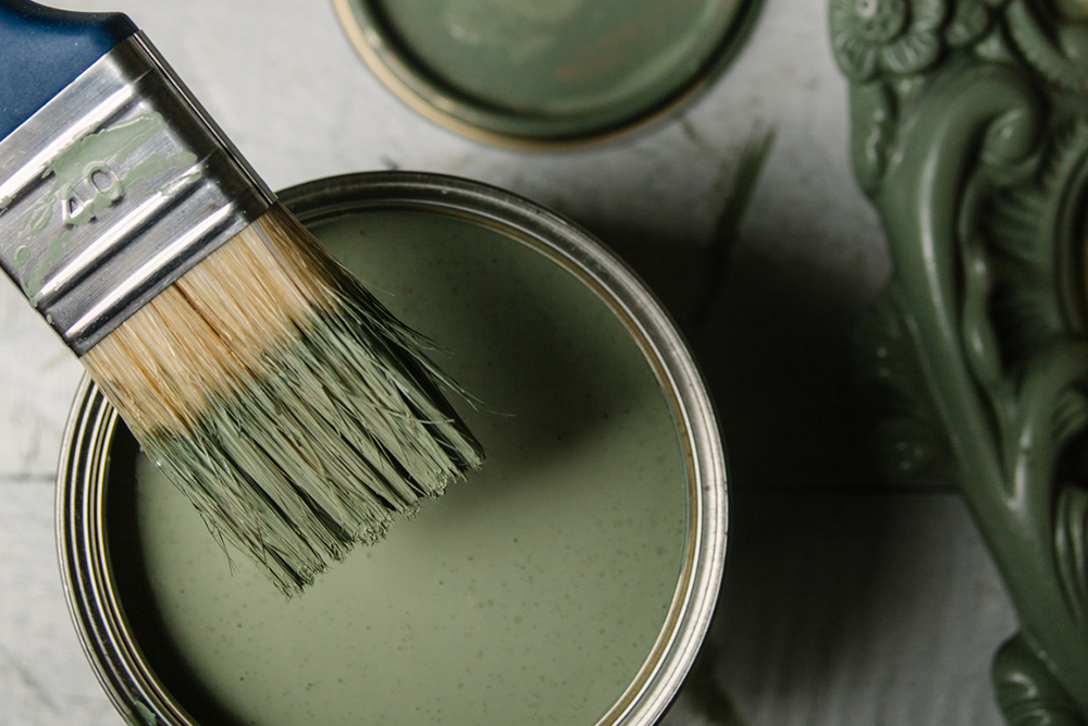 paintbrush and can for home staging tips