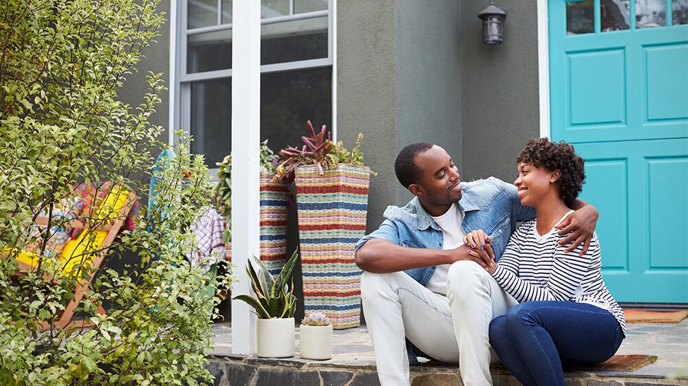 happy first-time home buyers