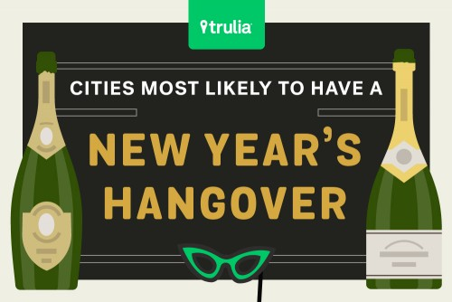 most hungover cities on New Years