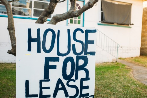 for lease sign on house