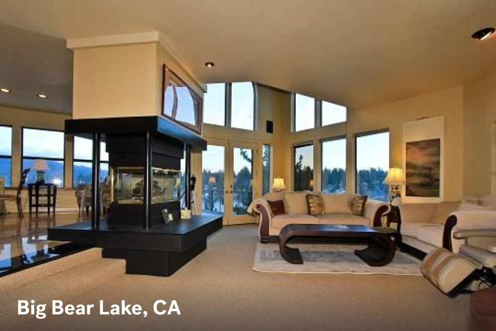 fire place designs big bear lake