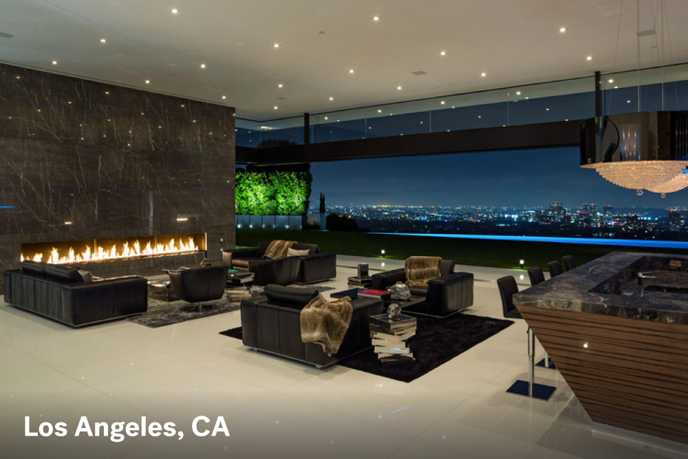 Fire place designs Los Angeles