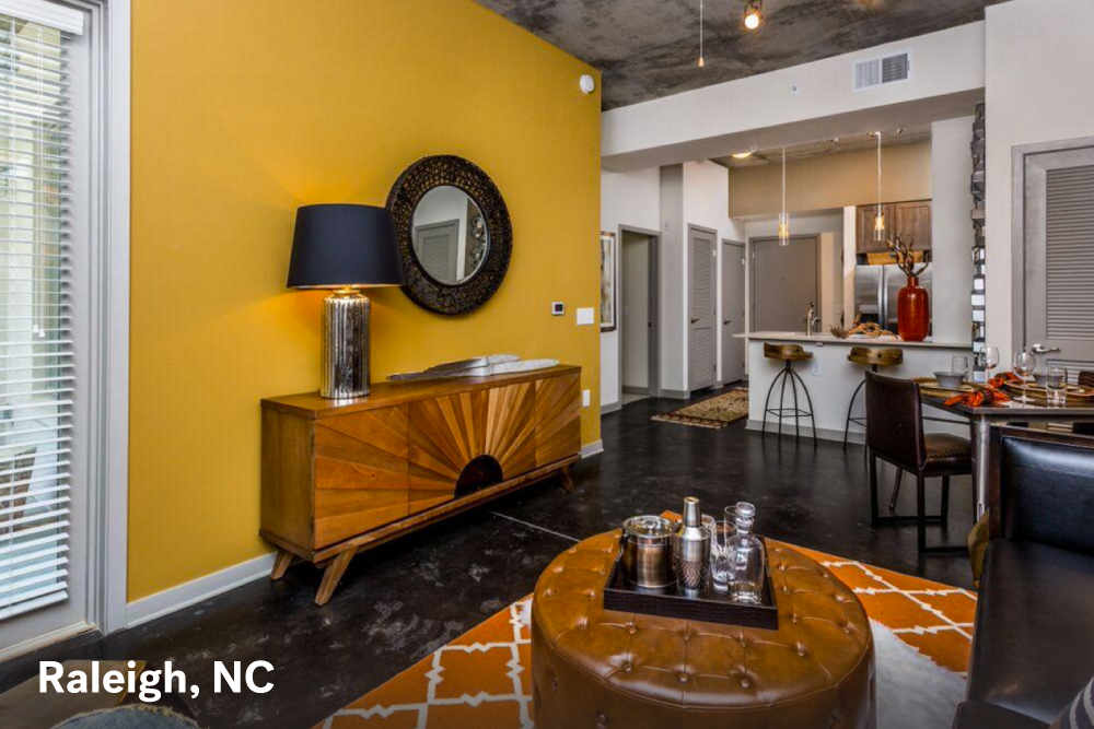 small apartment design in Raleigh