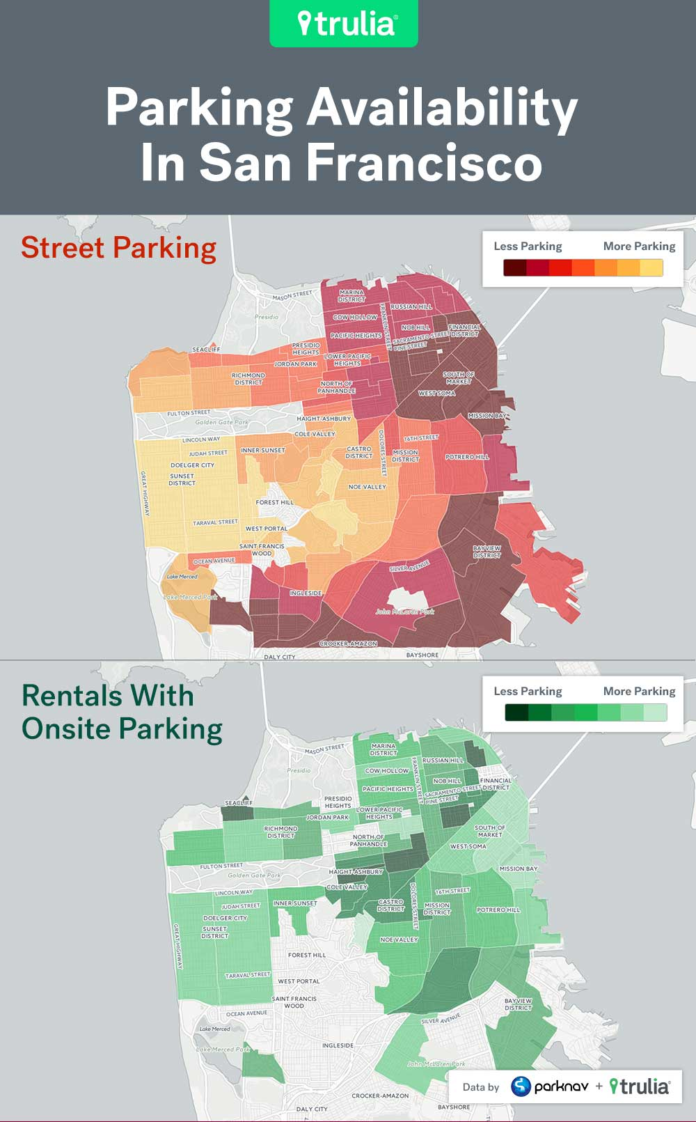 Best And Worst Places For Renters To Park In The Big City - Trulia Map Of Dc Neighborhoods on